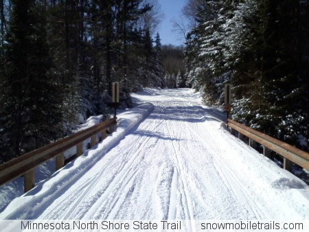 Minnesota North Shore State Snowmobile Trail